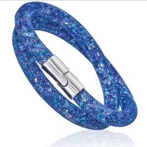 Swarovski stardust blue double bracelet 💎